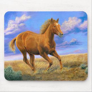 """Mousepad """"Cavalo do quarto da liberdade desenfreada"""" -"""