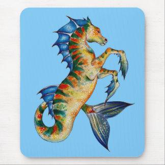 Mousepad Cavalo marinho no azul