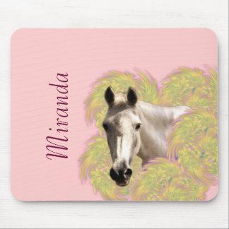 Mousepad Cavalo nas flores