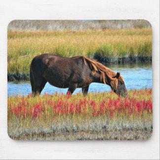 Mousepad Cavalo selvagem que come em The Field