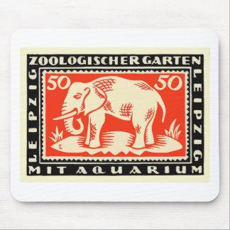 Mousepad Cédula 1919 de Notgeld do jardim zoológico de