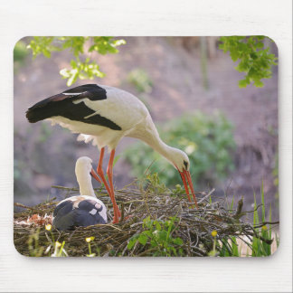Mousepad Cegonhas brancas em seu ninho