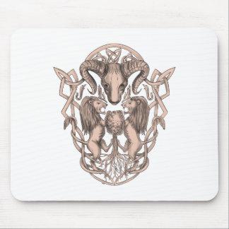 Mousepad Céltico Knotwo da brasão da árvore do leão dos