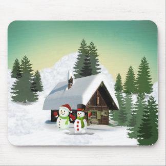 Mousepad Cena do boneco de neve do Natal