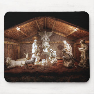 Mousepad Cena do comedoiro da natividade de Jesus do