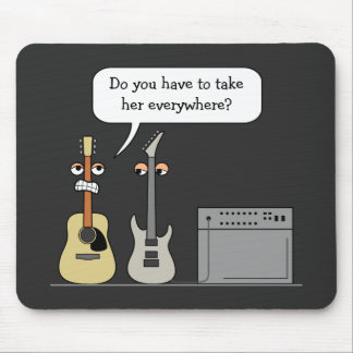 Mousepad Cena dos desenhos animados da roda da guitarra