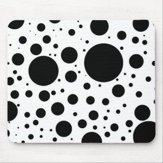 Mousepad Centenas de pontos e de círculos pretos no tamanho