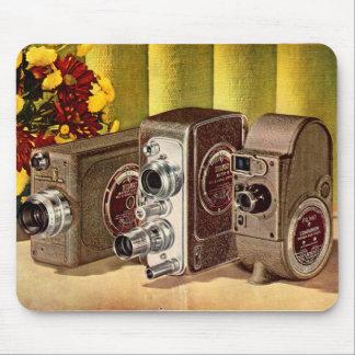 Mousepad cerca do anúncio 1950 das câmeras de filme caseiro