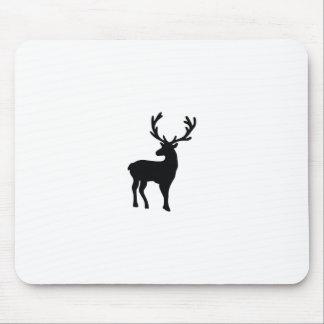 Mousepad Cervos preto e branco