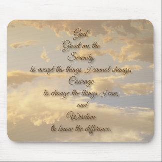 Mousepad Céu de incandescência da oração da serenidade