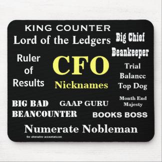 Mousepad CFO alcunha posições engraçadas da piada