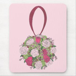 Mousepad Chá de casamento nupcial do buquê da flor do rosa