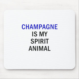Mousepad Champagne é meu animal do espírito