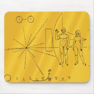 Mousepad Chapa do ouro da ponta de prova de espaço do