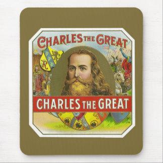 Mousepad Charles o excelente - etiqueta do charuto do