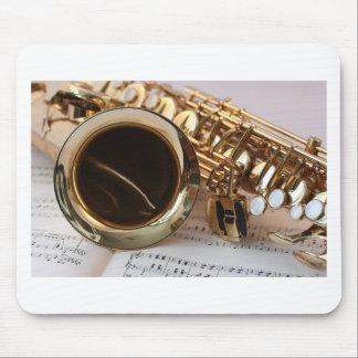 Mousepad Chaves de Notenblatt do brilho do ouro da música