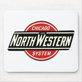 Mousepad Chicago & logotipo do noroeste 1 da estrada de