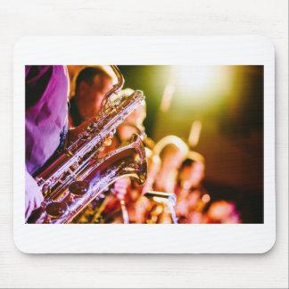 Mousepad Chifres dos saxofones dos instrumentos musicais da