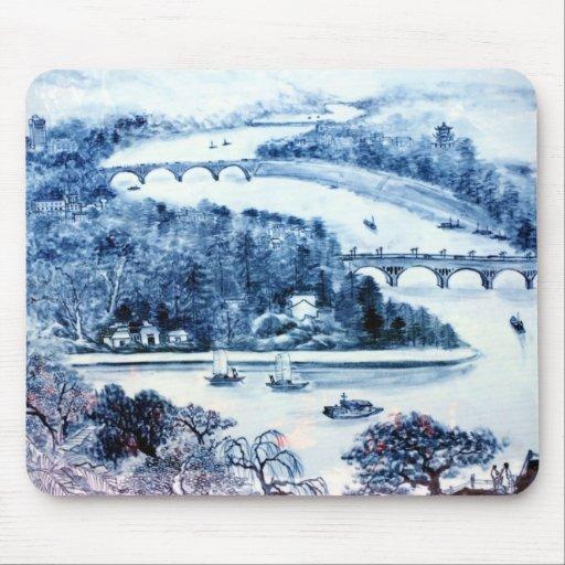 mousepad chinês da imagem da porcelana do vintage