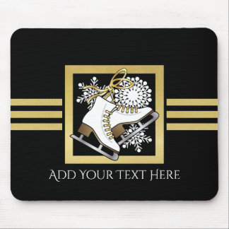Mousepad Chique moderno do ouro do falso do preto do