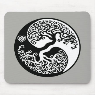 Mousepad Círculo da árvore de Ying-Yang