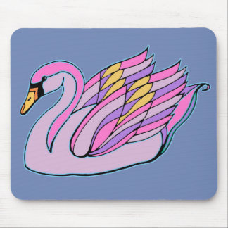 Mousepad Cisne cor-de-rosa (3) -