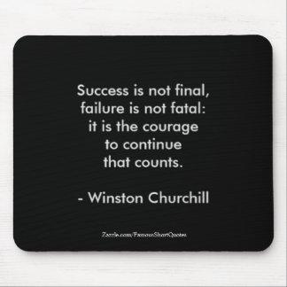 Mousepad Citações de Winston Churchill; Sucesso 2,0