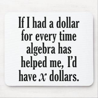 Mousepad Citações engraçadas da matemática/álgebra - eu