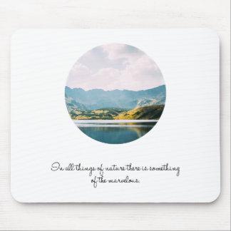 Mousepad Citações inspiradas da foto do círculo da montanha