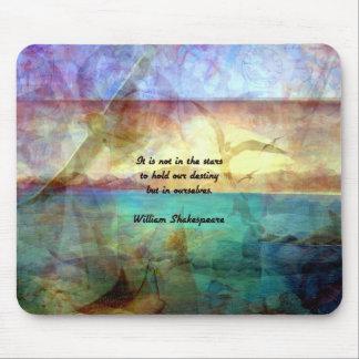 Mousepad Citações inspiradas de Shakespeare sobre o destino