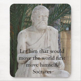 Mousepad Citações inspiradas de Socrates