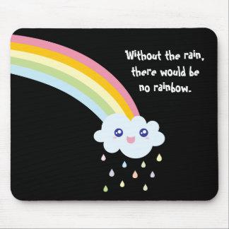 Mousepad Citações inspiradas e inspiradores do arco-íris