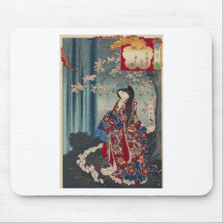 Mousepad Clássico legal da arte japonesa da senhora Japão