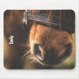 Mousepad Close up de um nariz bonito do cavalo de Brown