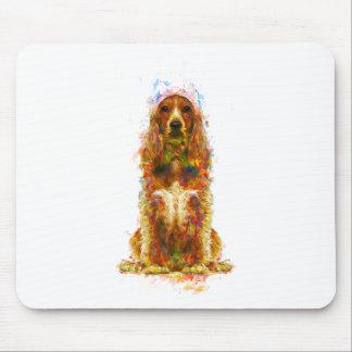 Mousepad Cocker spaniel e aguarela