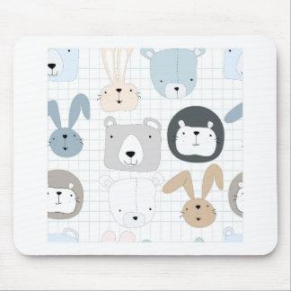 Mousepad Coelho bonito da criança e do coelho do urso de