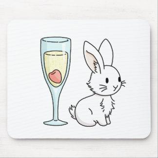 Mousepad Coelho com Champagne