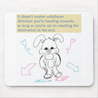 Mousepad Coelho e citações de coelho