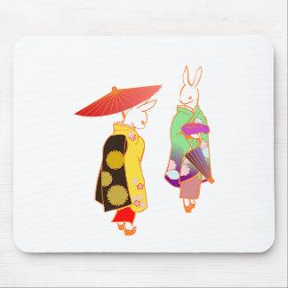 Mousepad Coelhos de coelho japoneses