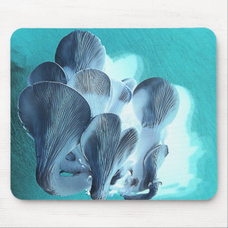 Mousepad Cogumelos de ostra no azul