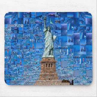 Mousepad colagem da estátua da liberdade - arte da estátua