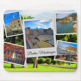 Mousepad Colagem de Budva Montenegro