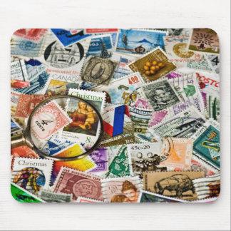 Mousepad Coleção de selo do vintage