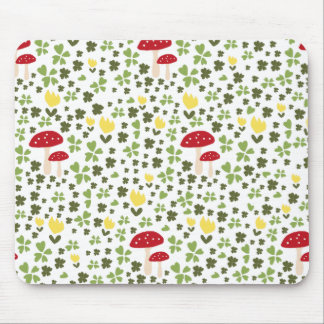 Mousepad Colorful saltas meadow with flowers and mushrooms