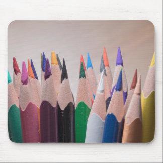 Mousepad colorido dos lápis
