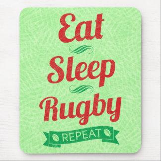Mousepad Coma a repetição Mousemat do rugby do sono