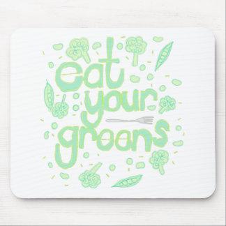Mousepad coma seus verdes