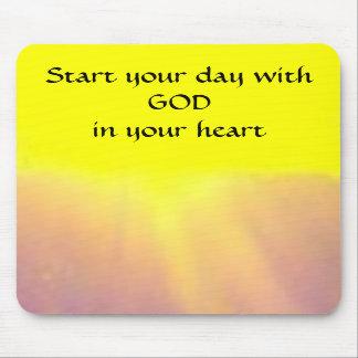 Mousepad Comece seu dia com o DEUS em seu coração -