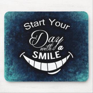 Mousepad Comece seu dia com um sorriso