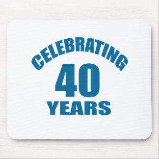 Mousepad Comemorando 40 anos de design do aniversário